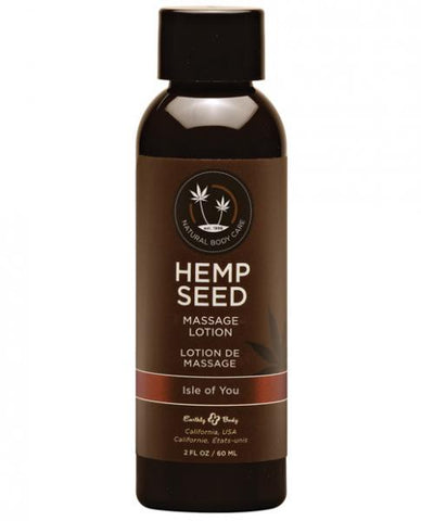 Earthly Body Hemp Seed Massage Lotion Isle Of You - Joitoyz