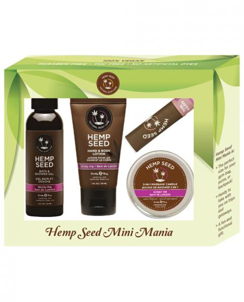 Earthly Body Hemp Seed Mini Mania Kit Skinny Dip - Joitoyz