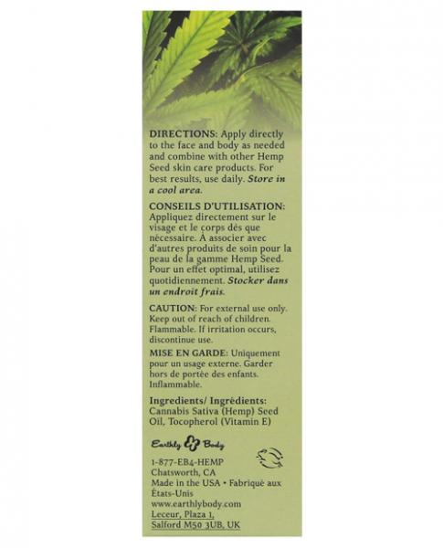 Earthly Body Hemp Seed oil with Vitamin E. - Joitoyz