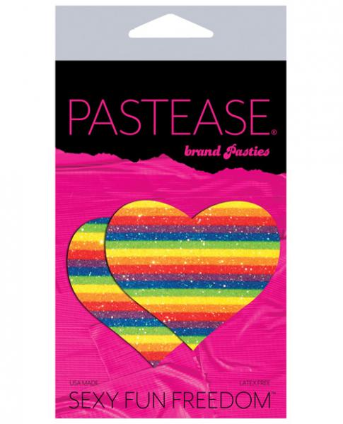 Pastease Glitter Rainbow Heart Pasties - Joitoyz