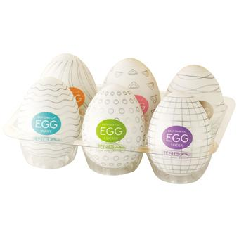 Tenga Eggs Easy Beat Egg Masturbator 6 Pack