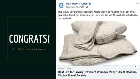 The Jet&Bo Cashmere Travel Set is a Winner!