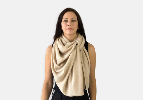 Jet&Bo Cashmere Travel Wrap Style The Waterfall