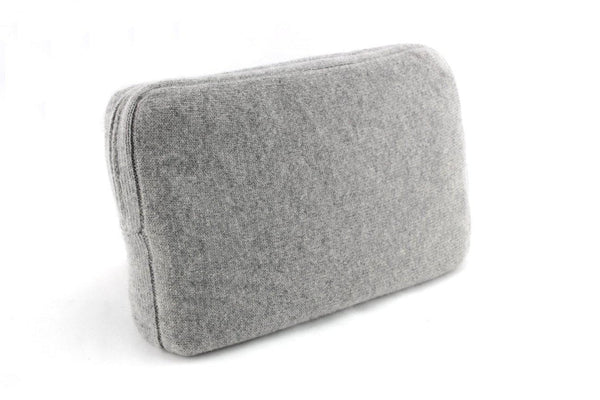 Jet&Bo 'Make Travel Luxurious Again' Gray Cashmere Travel Set Case