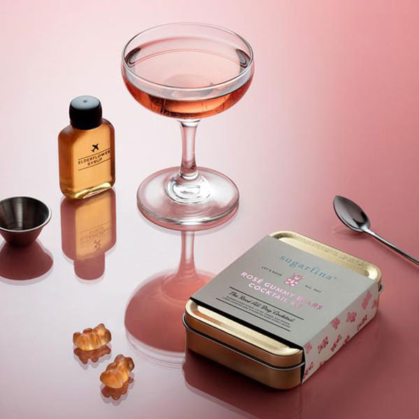 Jet&Bo Sugarfina Rose All Day Carry-On Cocktail Kit by W&P Design