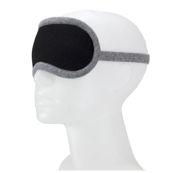 Jet&Bo 'Dream Envy' Cashmere Eye Mask (Black & Gray)