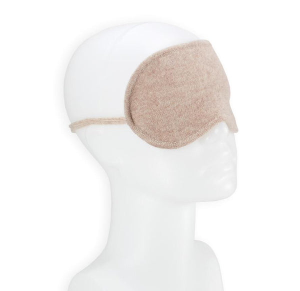 Jet&Bo 'Dream Envy' Cashmere Eye Mask (Natural) Side View