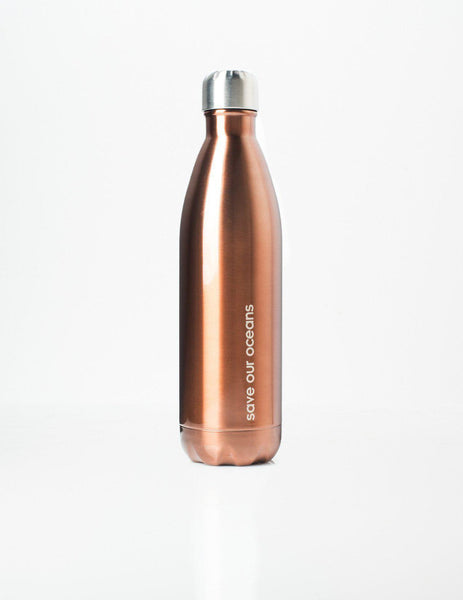 'Future' 25 oz Copper Travel Bottle and 'Koru' Carry Cover by BBBYO-Jet&Bo