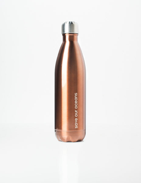 'Future' 25 oz Copper Travel Bottle and 'Orient' Carry Cover by BBBYO-Jet&Bo