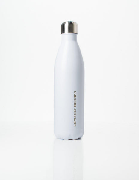 'Future' 25 oz White Travel Bottle and 'Koru' Carry Cover by BBBYO-Jet&Bo