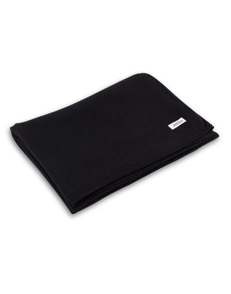 Jet&Bo 'So Soft, So Smart' Cashmere Travel Wrap & Blanket (Black) Blanket