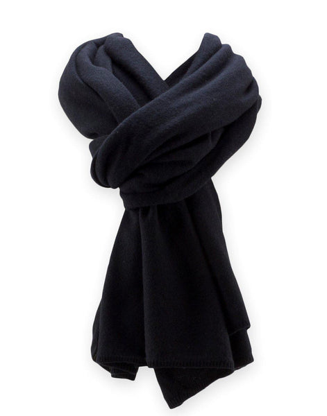 Jet&Bo 'So Soft, So Smart' Cashmere Travel Wrap & Blanket (Black) Scarf