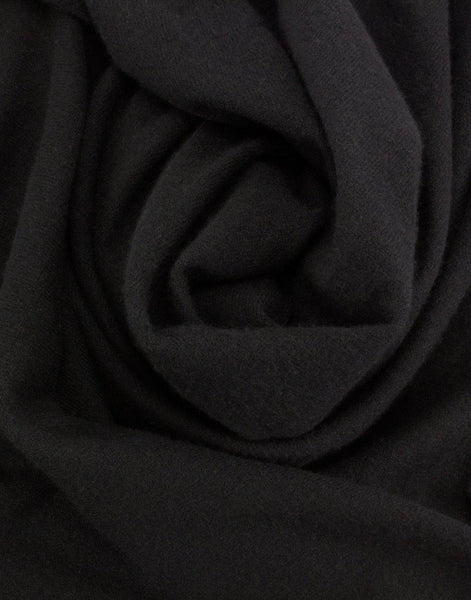 Jet&Bo 'So Soft, So Smart' Cashmere Travel Wrap & Blanket (Black) Close Up