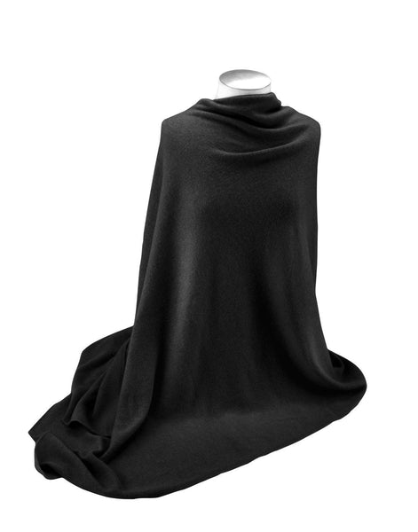 Jet&Bo 'So Soft, So Smart' Cashmere Travel Wrap & Blanket Black