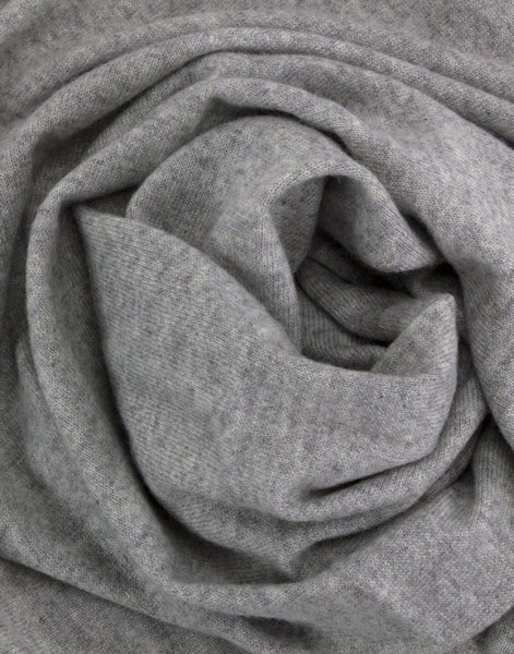 Jet&Bo 'So Soft, So Smart' Cashmere Travel Wrap & Blanket (Gray) Close Up
