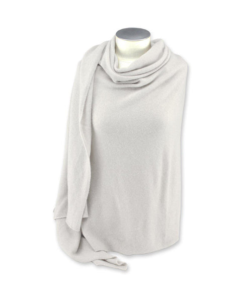 Jet&Bo 'So Soft, So Smart' Cashmere Travel Wrap & Blanket White Front