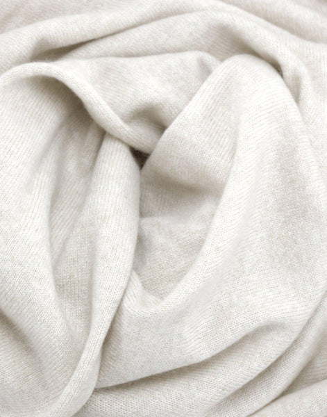 Jet&Bo 'So Soft, So Smart' Cashmere Travel Wrap & Blanket White Close Up