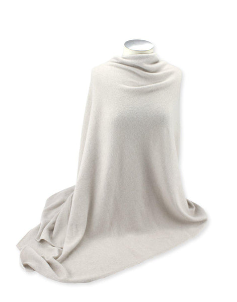 Jet&Bo 'So Soft, So Smart' Cashmere Travel Wrap & Blanket White