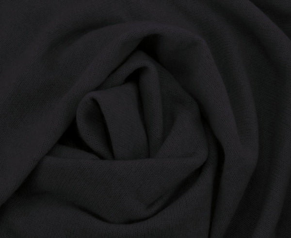 Jet&Bo 'So Soft So Smart' Lightweight Cashmere Travel Wrap Black Close Up