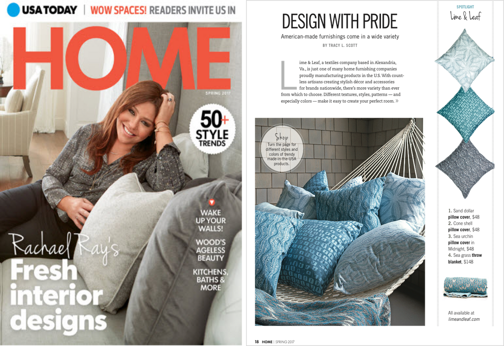 USA Today Home Magazine Celebrates Lime & Leaf