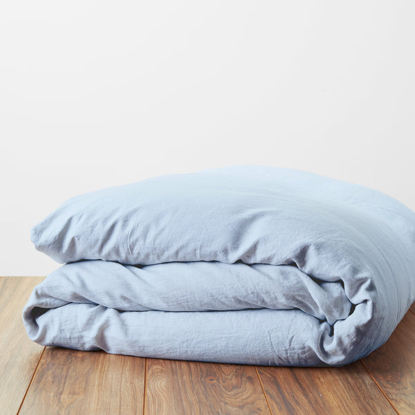 Linen and Percale Duvet Cover
