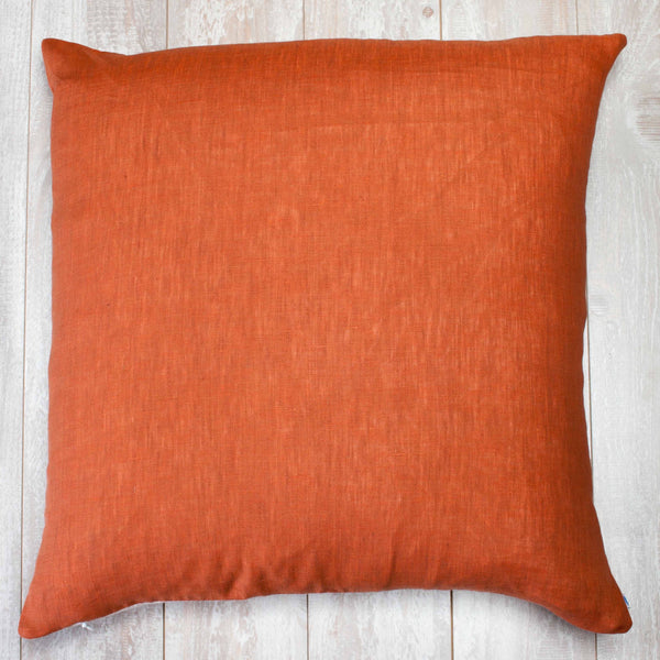 Reversible Linen Pillow Cover