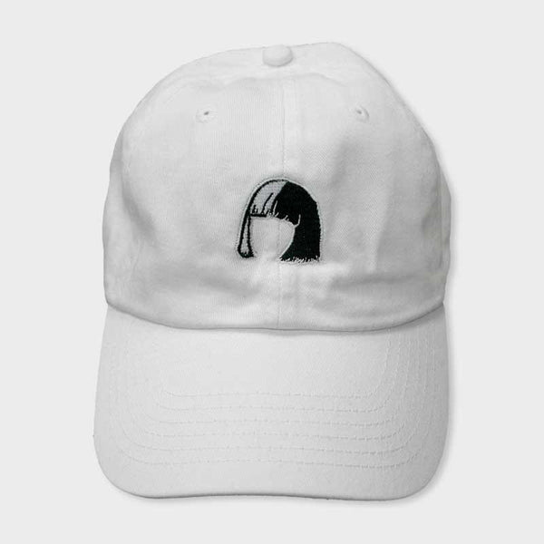 "SIA ""BOB"" EMBROIDERED WHITE DAD HAT"