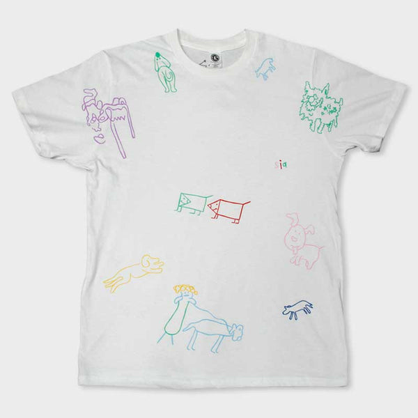 SIA ALL OVER TATOO PRINT WHITE TEE