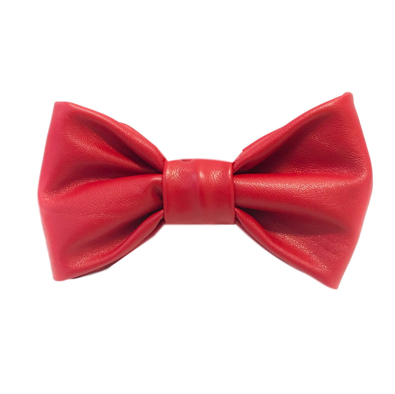 My Little Bow Tie - Red Faux Leather