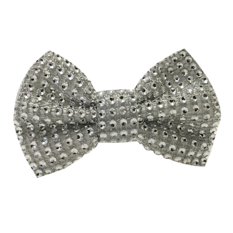 Bling Bow Tie - White