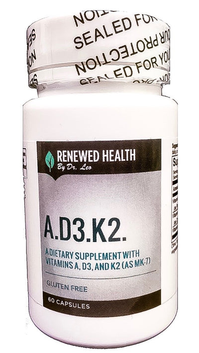 Renewed Health A.D3.K2 60 Vege Capsules with Essential Vitamins Content - Renewed Health Oils