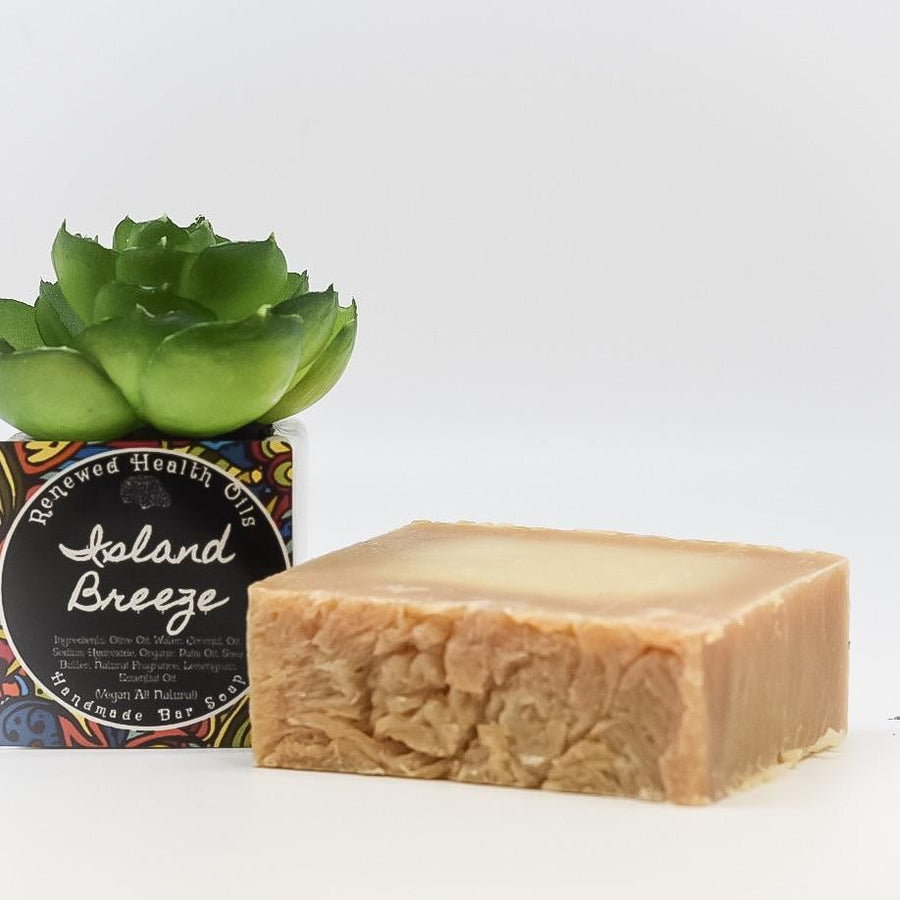 Island Breeze Coconut & Lemongrass Handmade Soap