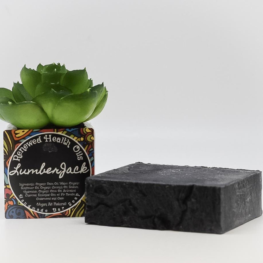Lumberjack Cade, Fir Needle, Cedarwood, & Activated Charcoal Handmade Soap