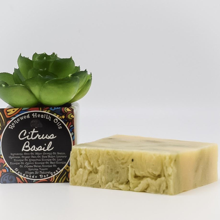 Citrus Basil Handmade Soap Bar