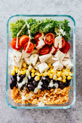 meal prep southwest chicken burrito bowls
