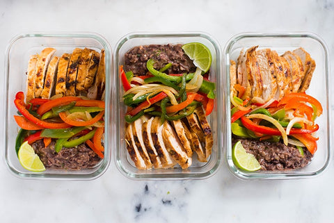 chicken fajita meal prep