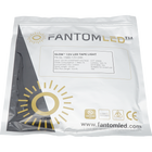 Sealed Fantom LED pouch with Fantom LED 16.4ft tape light inside. With Fantom LED brand and logo printed on and a  product detailing sticker on the pouch