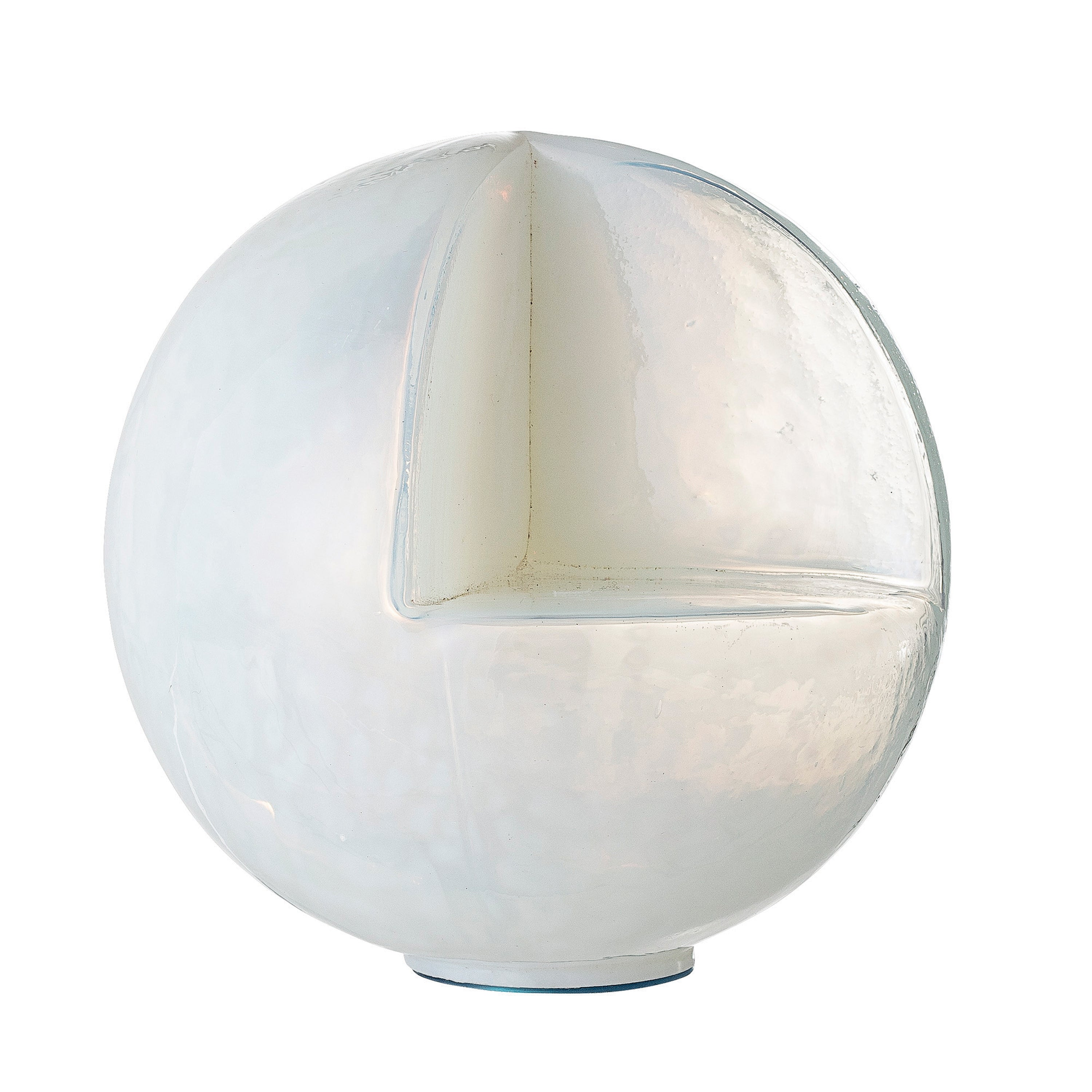 "5.5""R Glass Sphere-Shaped Candleholder with Cut Out Ledge"