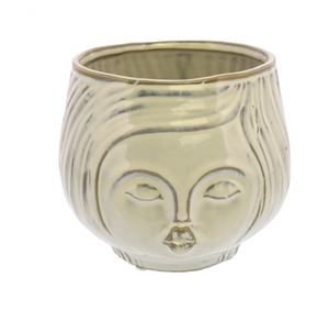 PUCKER UP CERAMIC VASE - FANCY WHITE