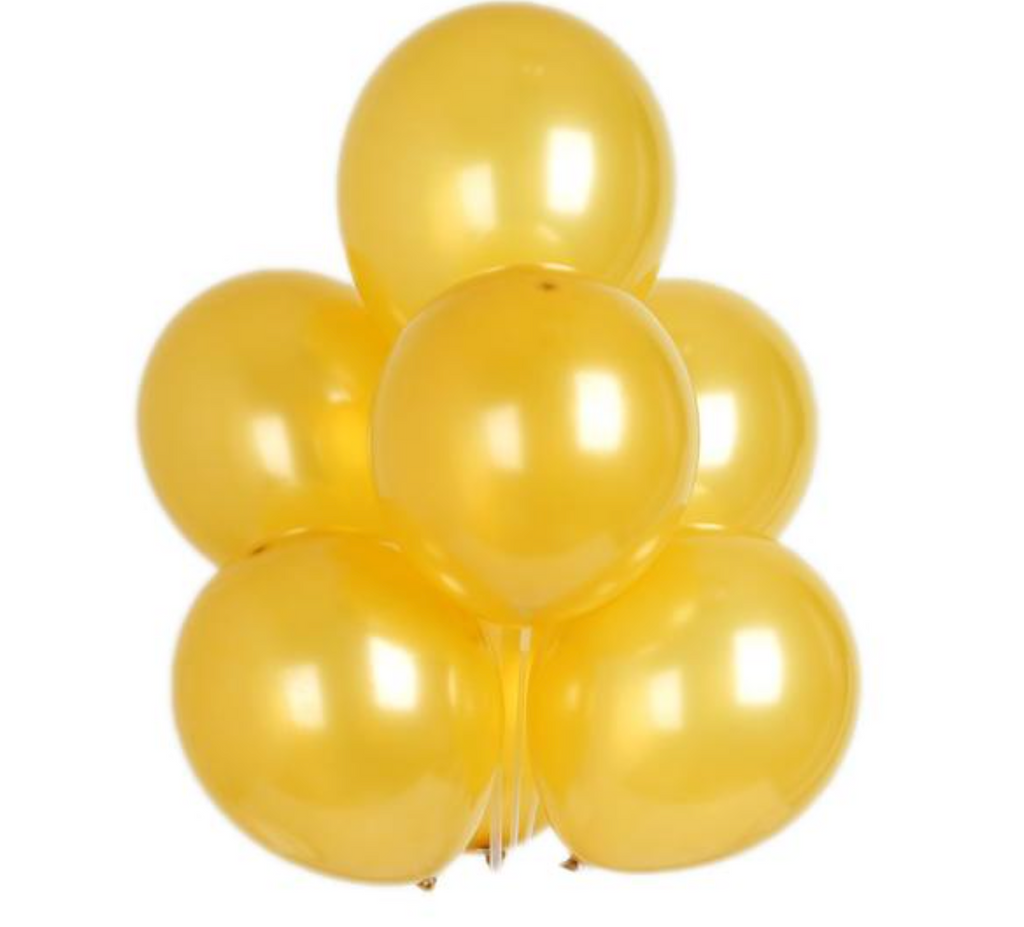 15 Gold Metallic Balloon Bouquet