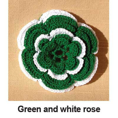 Crocheted Rose Bow