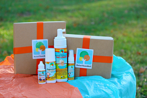 Favorites Gift Box:  Sanitizer, Baby Wash, Magnesium Roll On and Vitamin D