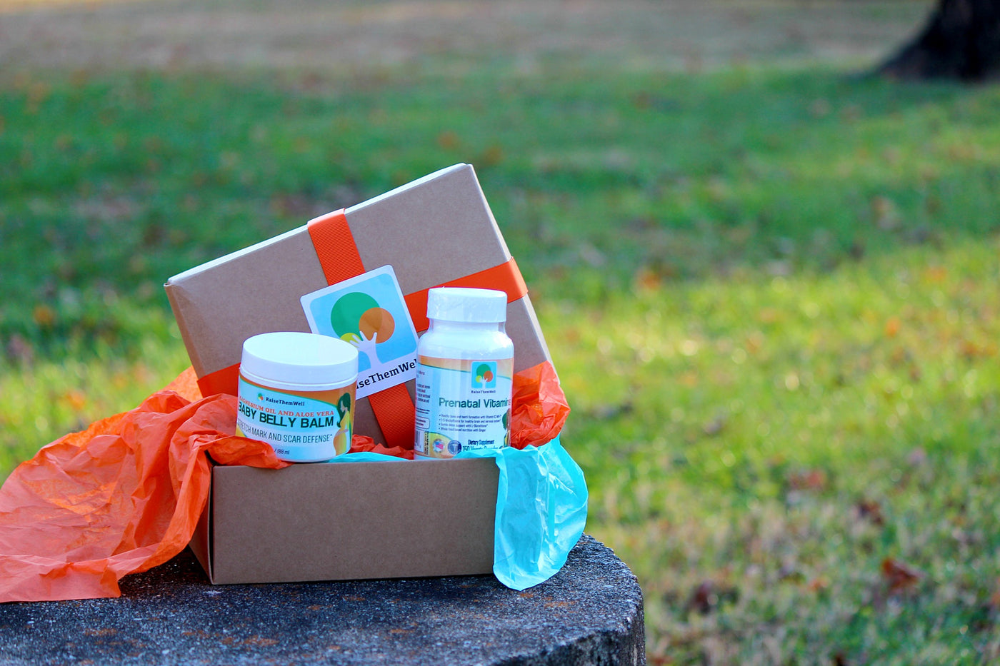Expecting Gift Box: Belly Balm and Prenatal Vitamin
