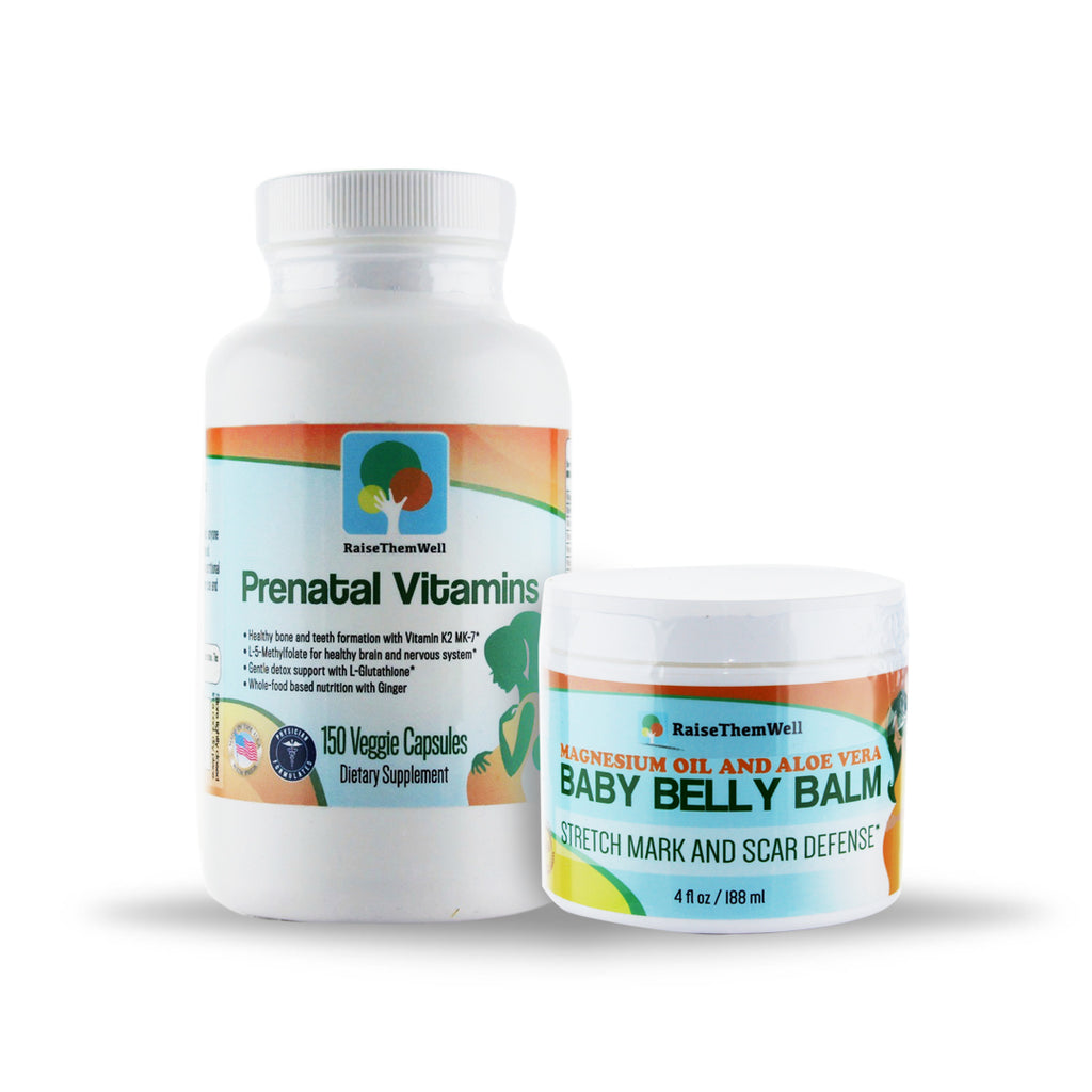 Baby Bump Bundle Prenatal Vitamins And Baby Belly Balm Raise Them