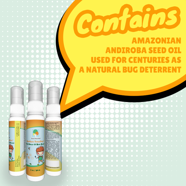 3-Pack, Kid-Safe ToxicFree® Bug Spray and Bite Relief. Repels Mosquitoes Wit.hout Harsh Chemicals. Uses Only All Natural Ingredients And Essential Oils.
