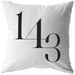 1 4 3 I Love You | Throw Pillow