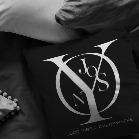 Njooys Good Vibes Everywhere | Pillow [Black Edition]