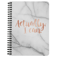 Actually I Can... | Spiralbound Notebook [Glam Edition]