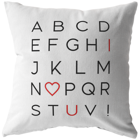 I Love You Alphabet | Pillow