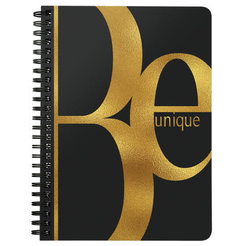 Be Unique | Spiralbound Notebook [Glam Edition]